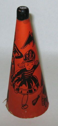 Vintage Halloween Noisemakers ~ Cardboard Horn w Kids in Costumes