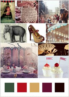 Water For Elephants color board