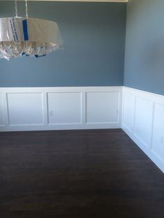 New farmhouse living room paint colors wainscoting ideas room ideas paint colors New farmhouse living room paint colors wainscoting ideas Painted Wainscoting, Dining Room Wainscoting, Wainscoting Styles, Dining Room Paint, Dining Room Blue, Black Wainscoting, Wainscoting Nursery, Wainscoting Panels, Wainscoting Height