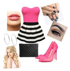 """""""We Wear Pink on Wednesdays"""" by daylynqhutchinson ❤ liked on Polyvore featuring beauty, Christian Louboutin, alfa.K, LASplash, Chanel and Michael Kors"""