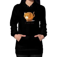 If it fits I sits Hoodie (on woman) Shirt