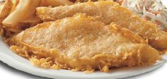 Long John Silver's Batter Ingredients: 1 cups flour 4 tablespoons cornstarch teaspoon baking soda teaspoon baking powder teaspoon salt 1 cups hot water (Kerry says to use ginger ale instead of water) Fish Dishes, Seafood Dishes, Seafood Recipes, Cooking Recipes, Main Dishes, Catfish Recipes, Fried Fish Recipes, Seafood Platter, Cooking Tips