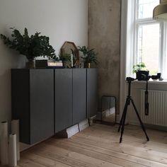 IKEA Ivar målad i mörkgrått (svart) – Husligheter