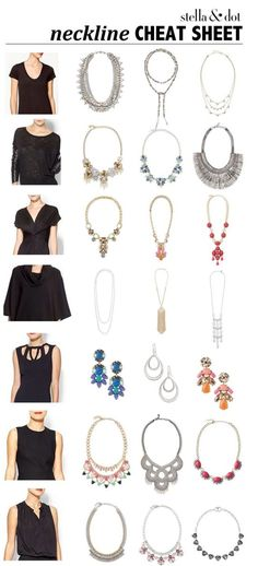 A little help for choosing the right necklace for your neckline!