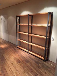 Regal, Massivholz, Stahl Bookcase, Shelves, Home Decor, Decorations, Barber Shop Names, Steel, Shelving, Decoration Home, Room Decor