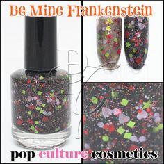 NEW Be Mine Frankenstein Polish Halloween by PopCultureCosmetics, $8.50