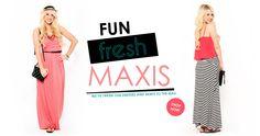 Shop new arrival of maxi skirts & dresses!