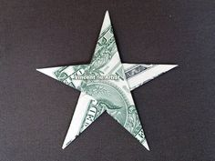 Items similar to STAR Money Origami Art Dollar Bill Cash Sculptors Bank Note Handmade on Etsy Origami Yoda, Origami Star Box, Origami Fish, Origami Dragon, Origami Art, Origami Ideas, Origami Tooth, Origami Gifts, Origami Patterns