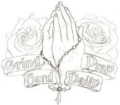 Praying Hands Tattoo 4 by ~Metacharis on deviantART