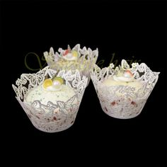 60pcs Lace Butterfly Cupcake Wrappers
