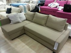 Ikea Friheten Chaise Sofa Bed In Grey Potential For The