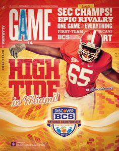 Alabama game day program - BCS National Championship game vs Notre Dame | #Alabama #RollTide #BuiltByBama #CrimsonTide #Bama #Tide #SEC #NationalChampions
