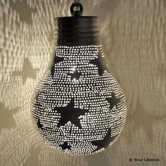 Kinderlampen, hanglamp peer met sterren - Nour Lifestyle