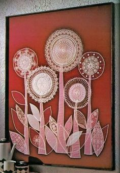 doe-c-doe: 1976 better homes & gardens creative crafts & stitchery- made with doilies and fabric remnants