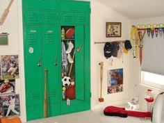 Custom Basketball Locker Bedroom Doors Murals Boys Room - Sports locker for kids room