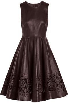 Dolce & Gabbana|Cutout leather dress|NET-A-PORTER.COM