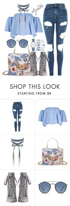 """""""Untitled #745"""" by gizibe84 ❤ liked on Polyvore featuring Topshop, Chan Luu, Zimmermann, Ray-Ban and A.X.N.Y."""