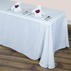 Efavormart Round Corner Polyester Rectangle Tablecloths x - White Tablecloth Sizes, Cheap Tablecloths, Banquet Tables, Party Tables, Table Overlays, Chair Sashes, Burlap Table Runners