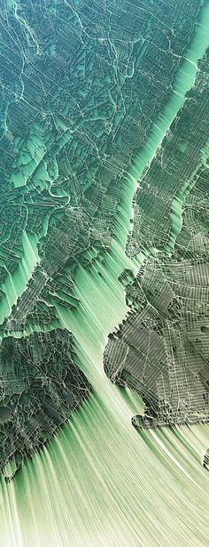 World's Cities Transformed into Vibrant, Flowing Maps of Eroded Terrain - My Modern Met
