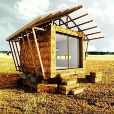 Straw Bale Micro Building by Studio 1984 #tinyhouse#home#architecture#modern#tinyhomes#micro#minimalist#green#house#nature#ecohome#greentinyhouse#small#cabin