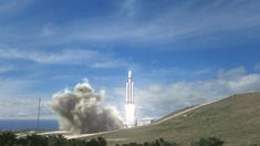 With over 3.8 million pounds of thrust at liftoff, Falcon Heavy will be the most capable rocket flying. By comparison, the liftoff thrust of the Falcon Heavy equals fifteen Boeing 747 aircraft at full power. Credit: SpaceX