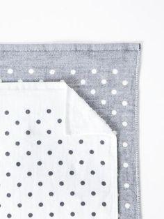Polka Dot Chambray Towel