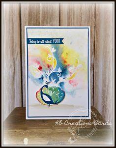 KOCreations Stampin' Up! Blog: Beautiful Peacock #kocreationscards #2018saleabration #beautifulpeacock #cardmaking #stampinup #papercrafts #brusho #watercolour