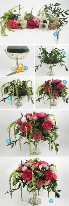 This flower arrangement DIY is going to knock the socks off all your friends! It's so gorgeous!