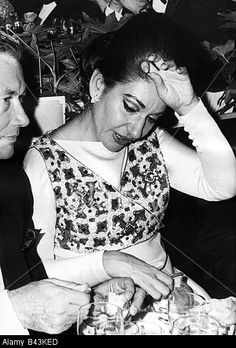 Callas, Maria, 3.12.1923 - 16.9.1977, Italian singer (soprano) of Greek origin, half length, with Sandy Bertrand, director of m Stock Photo