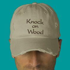 Knock on Wood Embroidered Cap Baseball Cap | Zazzle