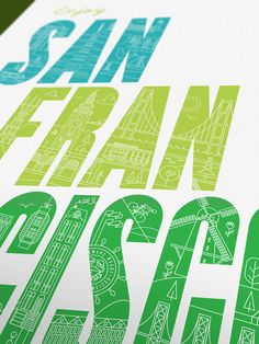Enjoy San Francisco Poster by Albert and Marie #typography #illustration