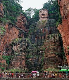 Biggest Buddha in the world. Leshan Buddha, China.