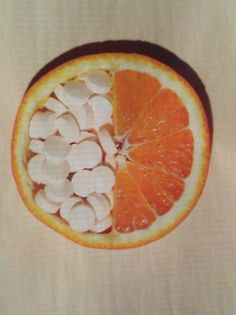Did you know all those pills= that 1 half of a orange?? I'll take the right side Drugs Art, Weird Food, Crazy Food, Human Emotions, Organic Recipes, Pharmacy, Trippy, Surrealism, Art Photography
