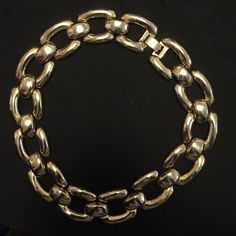 Vintage gold necklace. 1980's vintage bold gold tone Chanel like designed necklace . Jewelry Necklaces