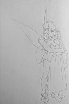 Film: Thumbelina ===== Characters: Thumbelina & Prince Cornelius (Final) ===== Sketch #1