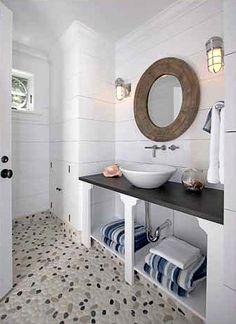 1000 Images About Beach Bathroom On Pinterest Pebble Floor Heated Towel Rail And Metro Tiles