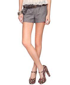 Linen Pinstripe Shorts