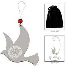 Silver Dove Ornament #holidaygift http://promediaus.espwebsite.com/