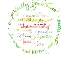 """""""resolution now"""" - by lisaekström - Spoonflower     For Spoonflower's contest on the theme of hand-lettered new year's resolutions. Inspiration all around, I made a piece that's not so much a resolution, more of a moment-to-moment dedication ... Happy 2014!  © Lisa Ekström"""