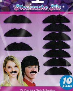 70s Party Moustache Pack #Movember                                                                                                                                                                                 More