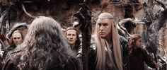 Thranduil & Gandalf -- Even Gandalf is taken aback by the Thranduil Glare of Awesome. #intenseeyebrows