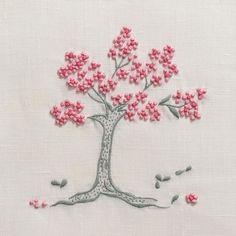 Jacaranda Tree RedTowel - Ivory Linen – Henry Handwork