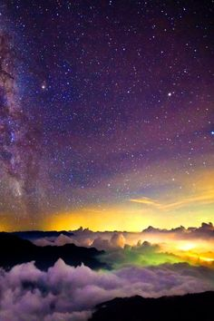 Violet Yellow Colors In The Sky Image Credit Media Cache