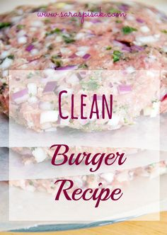 Clean turkey burger recipe & 21 Day Fix approved! Click on the pic for the recipe!