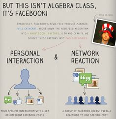Infografic which helps better to understand the Facebook EdgeRank via @postrocket.com #facebook #edgerank