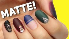 5 PERFECT Ways To Wear MATTE Nails! - YouTube
