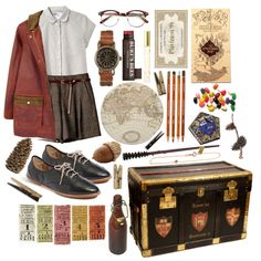 The Wizarding World: Train Ride to Hogwarts Quirky Fashion, Aesthetic Fashion, Aesthetic Clothes, Retro Fashion, Other Outfits, Girly Outfits, Casual Outfits, Cute Outfits, Hogwarts