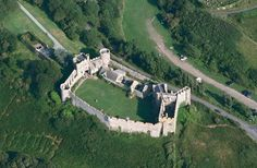 An aerial view of Manorbier Castle in Pembrokeshire, Wales ... a potential place in the novel.      What do you think?    Personally, I love the idea of Manor-Bier - almost like a biergarten. Though I don't think Prunella will be drinking beer here ...