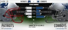 Watch Cowboys vs. Patriots Live Streaming