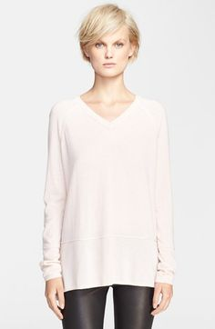 Vince Double Trim V-Neck Sweater available at #Nordstrom